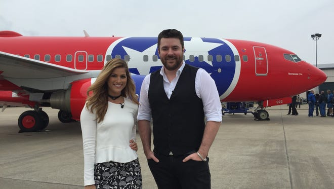 Cassadee Pope and Chris Young