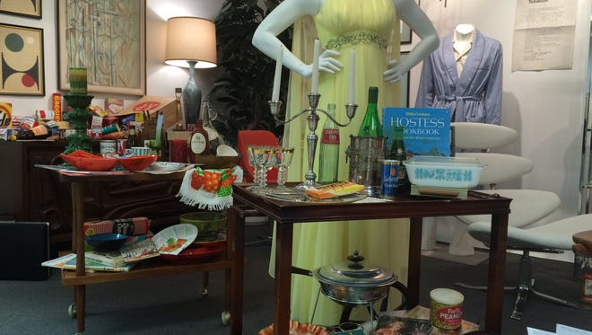 An exhibit of 'Mad Men' fashion, set decor and props at Modernism Week's CAMP in Palm Springs.