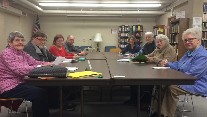 Members of the Writing Group for Seniors gather with their teacher Ann Heyse (back right) in the Door County Library's Sturgeon Bay branch to read, write and listen to each other's stories.