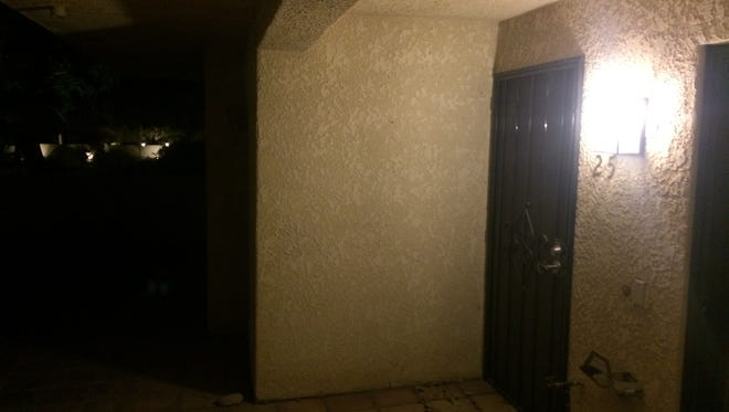 The apartment rented by 70-year-old Paul Wilkins in Palm Springs, who is suspected of trying to have sex with a 9-year-old child in  a sex sting.