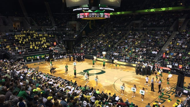 No. 13 Oregon hosts Washington State on Wednesday. The Ducks are trying to remain unbeaten at home this season.