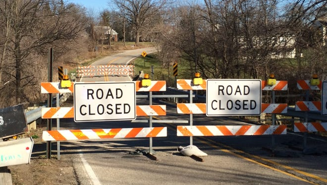 A portion of North Eager Road is closed due to the failure of a small bridge.