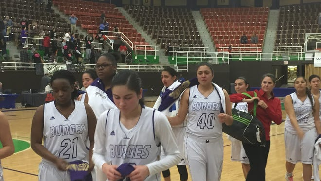 Burges fell to Wichita Falls Rider in the Region 1-5A tournament Friday, capping the season with an overall record of 28-4.