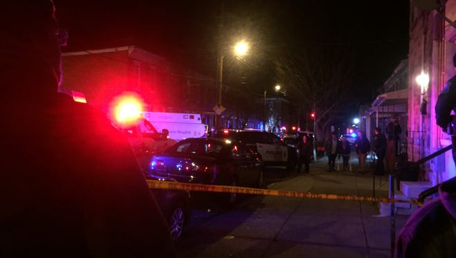 Wilmington Police were on the scene of a shooting on Pine Street Friday night - it was one of three shootings in the area on Friday.