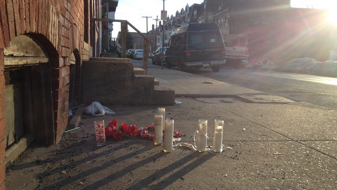York City Police say shots were fired near the intersection of Walnut and State streets early Tuesday morning.
