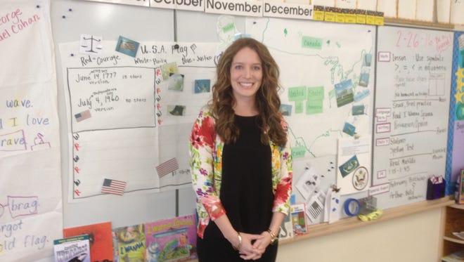 Jenn Ponder teaches first grade at Mission Park School in Salinas.