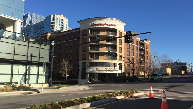 The Hampton Inn & Suites hotel at 310 Fourth Ave. S. was sold for $101.5 million.