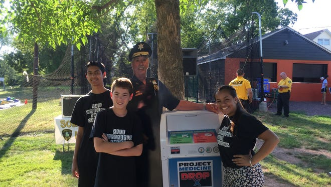 Members of the Youth Coalition supported Selfie with the Sheriff campaign on National Night Out.