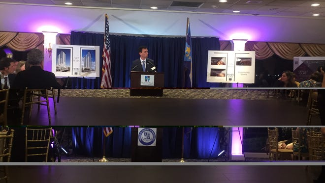 New Rochelle Mayor Noam Bramson delivered his State of the City address in front of a packed house in the Beckwith Pointe catering club.