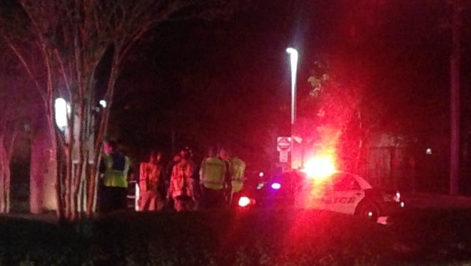 A pedestrian was transported to the hospital after a crash on Martin Luther King Jr. Boulevard Wednesday night.