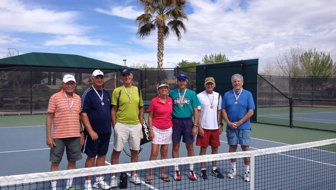 Tennis was the first event of the 2016 Mesquite Senior Games.