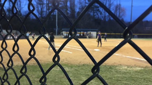 Roberson softball played its first night home game on Wednesday.