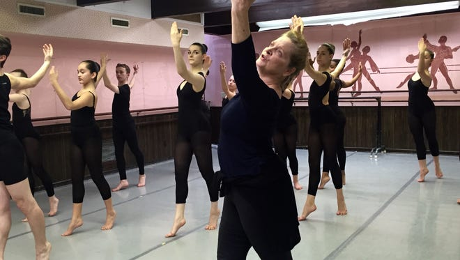 Ruth Andrien of the Paul Taylor Dance Company led a master class at the Vineland Regional Dance Company.