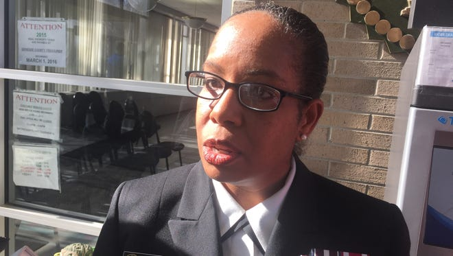 Rear Admiral Michelle Dunwoody, an assistant U.S. Surgeon General, is on a 30-day assignment to help Flint map out a long-term plan to deal with the health effects of lead poisoning.
