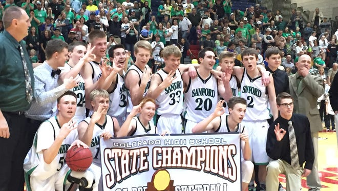 Sanford beat Resurrection Christian 63-58 Saturday to win its third state title in a row and second in a row over RCS.