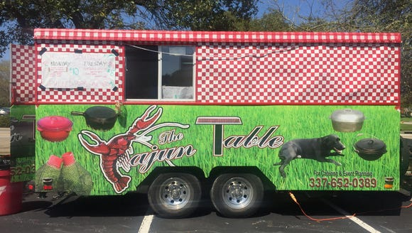 The Cajun Table food truck is pictured at the Courtyard
