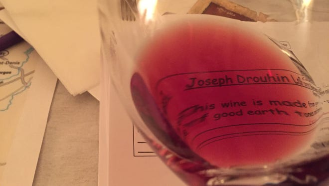 You should always be able to read through your glass of red Burgundy, made from Pinot noir grapes.
