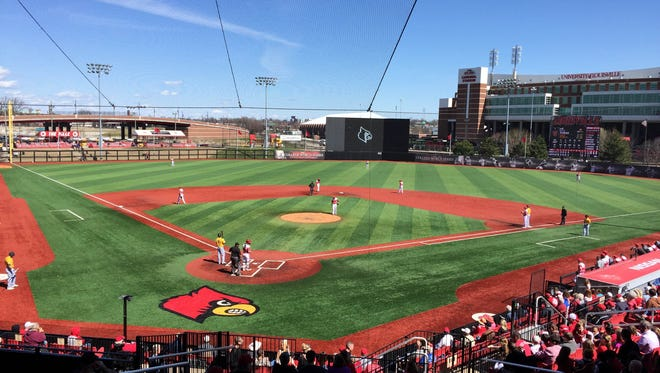 The Louisville baseball team hosted Wright State at Jim Patterson Stadium on Wednesday, March 16, 2016