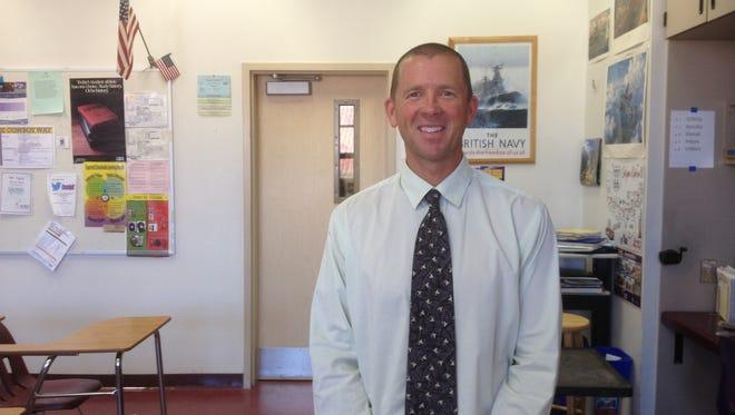 Salinas High Teacher Bob Agan presides over Room 222 on campus.