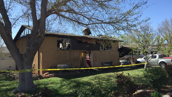 The Santa Clara Fire Department responded to a fire that engulfed a home on Vineyard Road Thursday morning. Ten people were evacuated from the building, and two dogs are still missing.