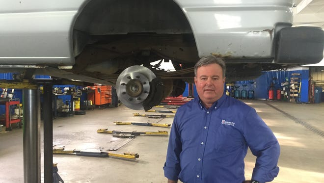 Norm Jones, owner of Kirkwood Auto Center near Newark, worries that sharing his business information with AAA will hurt his profits.
