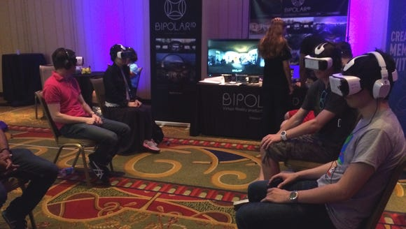 SXSW attendees participating in the BipolarID VR.