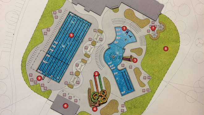 Erb Park pool preliminary design, released on March 21, 2016.