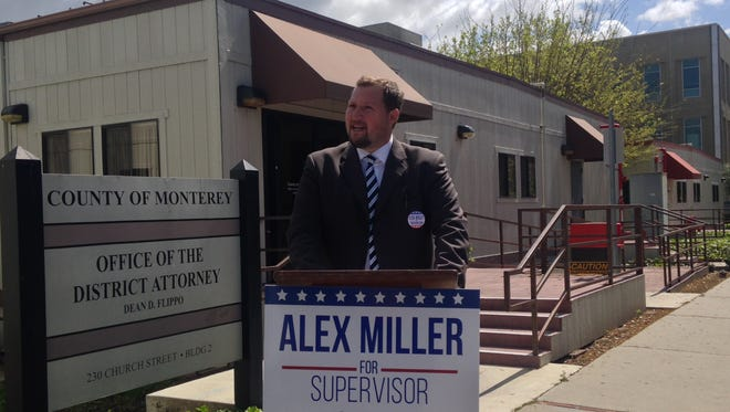 Alex Miller officially announces his candidacy for county supervisor District 4 on March 22.
