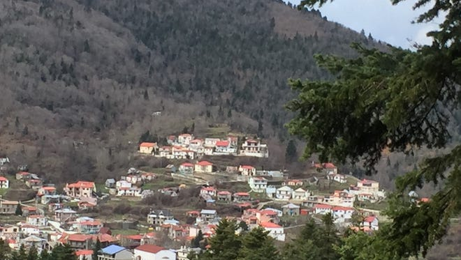 Karpenisi is nestled in the central Greek mountains.