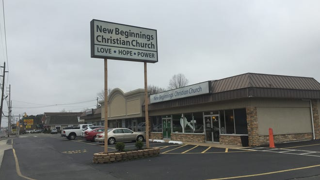 New Beginnings Christian Church is shown on Brick Boulevard.