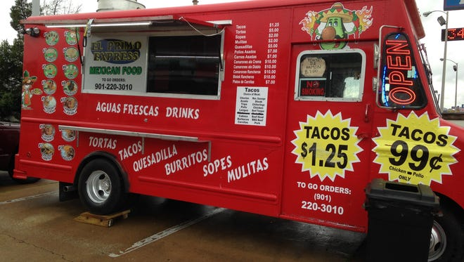 El Primo Express Mexican Food truck is located at the corner of Old Hickory Boulevard and the U.S. 45 Bypass.