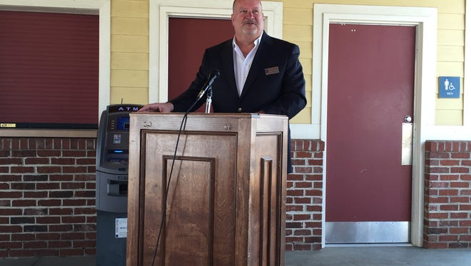 Fountain Inn Director of Economic Development Byron Rucker announces this year's schedule for Fountain Inn's spring and summer series Thursday at the Farmers Market Pavilion.