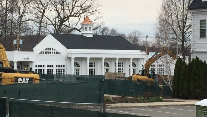 Construction continued Friday afternoon at the Morristown-Beard School after a reported landslide at the construction site on Thursday. No one was injured, according to the contractor and OSHA officials.