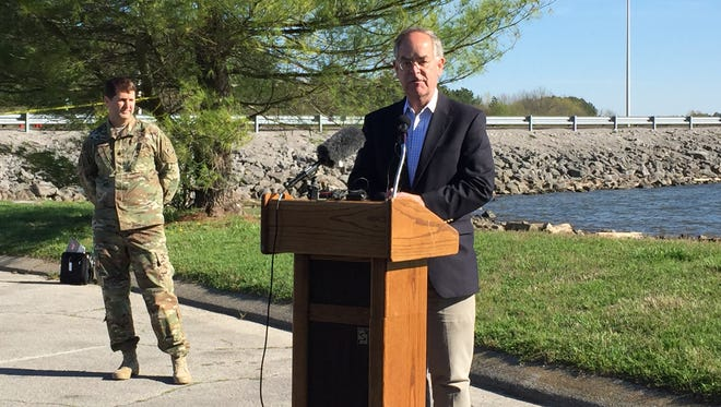 U.S. Rep. Jim Cooper speaks against a proposed rock quarry coming to Old Hickory.