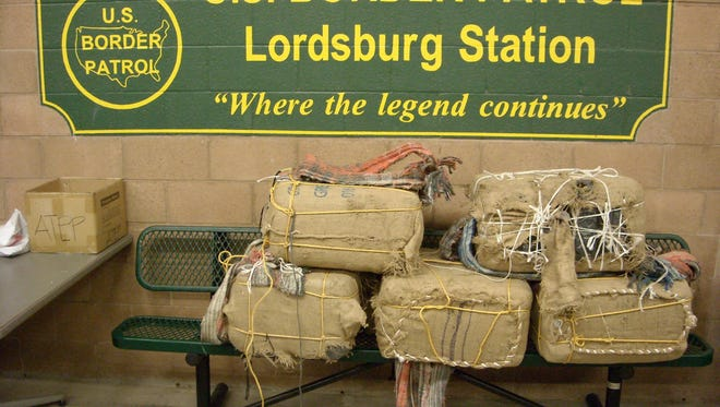 Five burlap backpacks contained marijuana were seized early Monday morning by U.S. Border Patrol agents outside of Lordsburg, New Mexico.