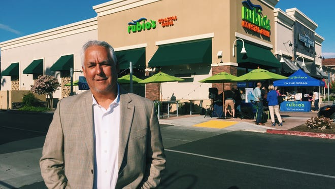 Rubio's Coastal Grill founder Ralph Rubio stands in front of the new Rubio's location in Visalia. As of 2007, Rubio's operates, licenses or franchises more than 190 restaurants in Arizona, California, Colorado, Florida, Nevada and Utah.