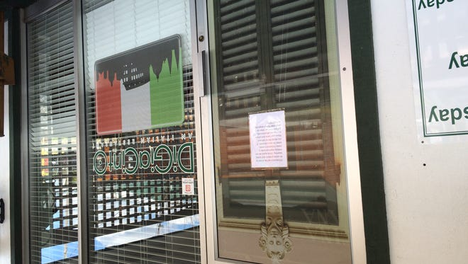 "DiGiacinto's closed recently for ""some projects and spring cleaning,"" according to a sign on the door Friday, April 1, 2016 — but owner Sam DiGiacinto said the restaurant is to reopen later this month."
