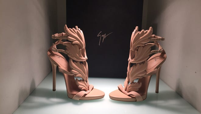 """Giuseppe Zanotti """"Cruel Summer"""" sandals, designed by Kanye West at CoCo Pari for $1,595."""