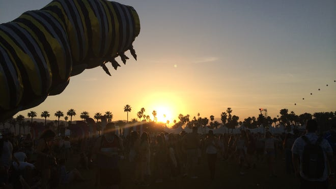 A sunset during the Coachella Valley Music and Arts Festival 2015.