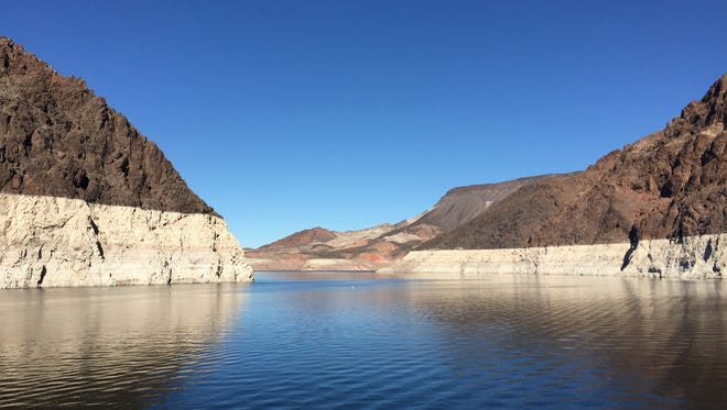 Lake Mead National Recreation Area outside of Las Vegas is the perfect pit stop on the drive from Phoenix to Las Vegas.