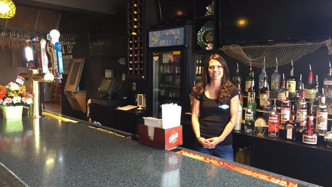 Ashley Mehl, bar manager at California Grill, inside the newly refurbished bar area of the Vestal restaurant.