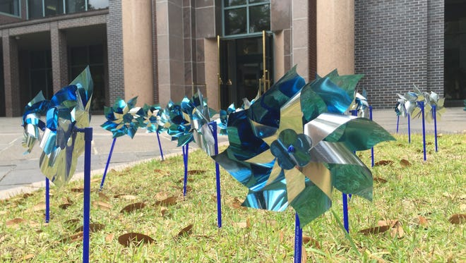 Pinwheels will be dot the front lawn of City Hall during the month of April to recognize National Child Abuse Prevention Month.
