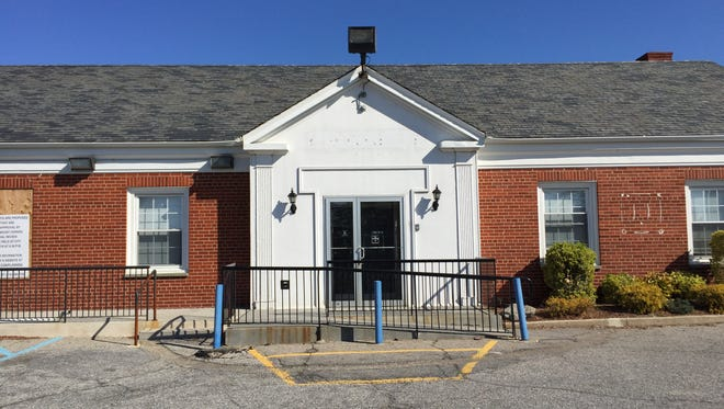 A former bank at 20 Colonial Place in Mount Vernon that is proposed to be a fast-food restaurant.