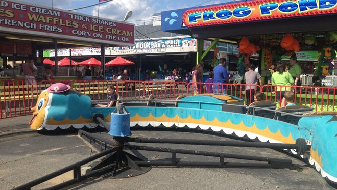 The caterpillar is one of the vintage kiddie rides at Keansburg Amusement Park.