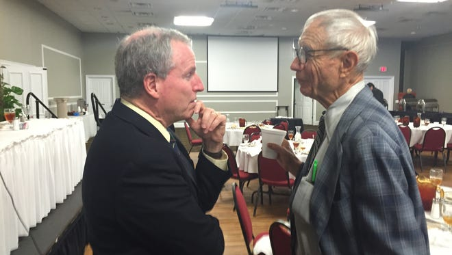 Former U.S. Ambassador to Syria Robert Ford spoke to members of the Panhandle Tiger Bay Club Friday, where he provided insights on the conflict with the Islamic State in Syria and Iraq.