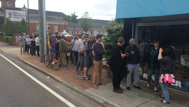 More than 40 people lined up in front of Revolver Records Saturday in anticipation of the 9th annual Record Store Day.