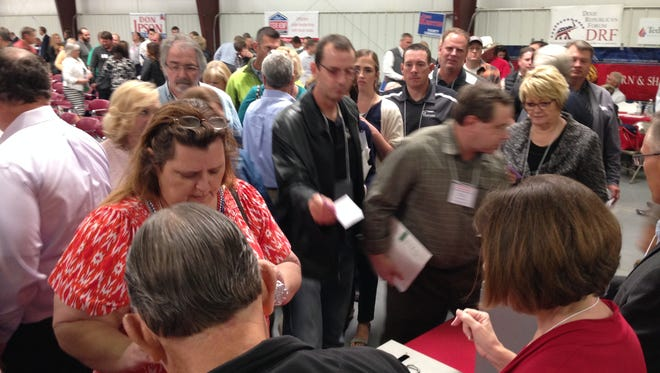 Nearly 500 delegates turned out to vote during the Washington County nominating convention on April 16, 2016.