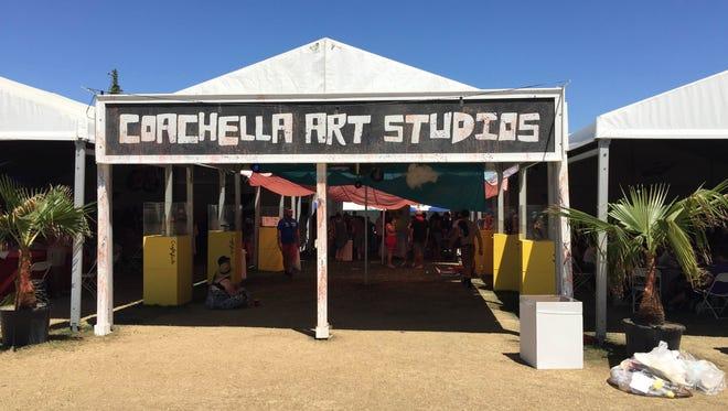 The Coachella Valley Art Scene has organized a Coachella Art Studios space at Coachella's campgrounds since 2008.