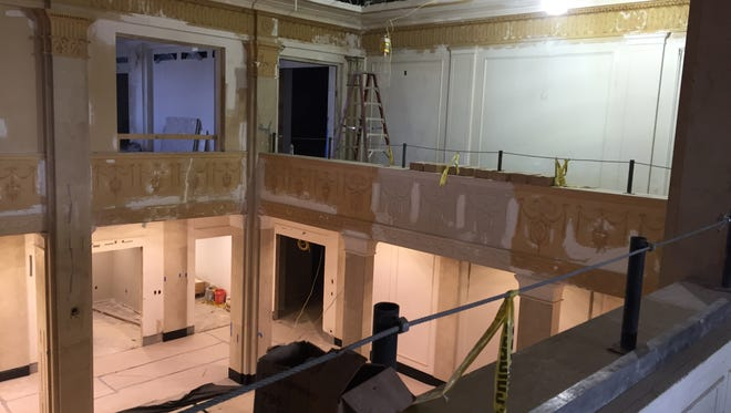 The atrium of the former State Office Building is being restored to its former glory by Vantage Health Plan.