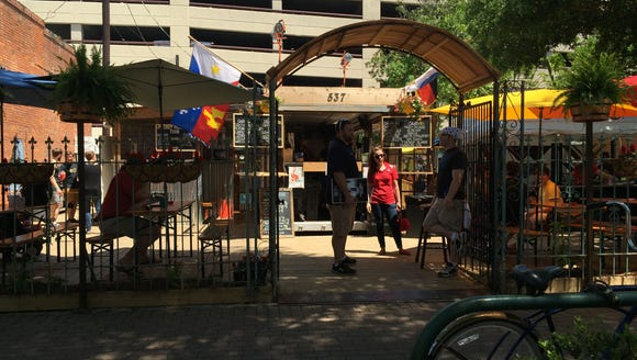 The Wurst Biergarten is now open in downtown Lafayette.
